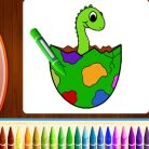 Coloring Pages, Dinosaurs Coloring Book Part I Game