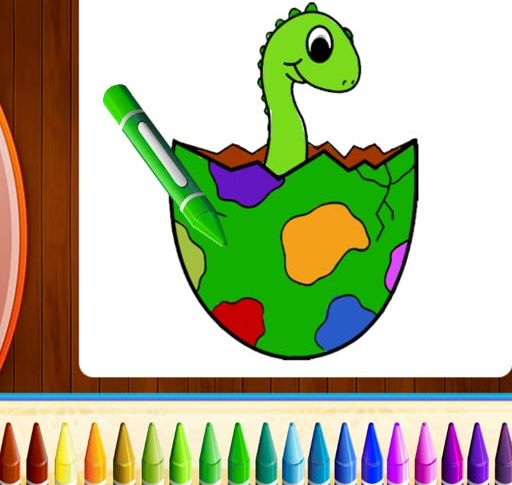 Dinosaurs Coloring Book Part I, Coloring Pages